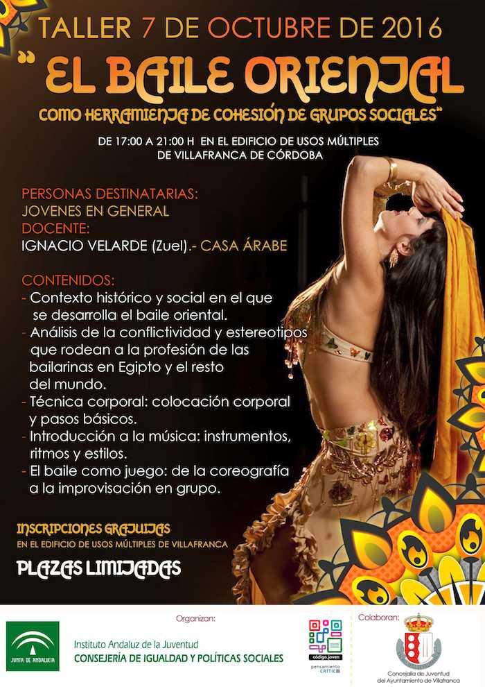 Cartel El Baile Oriental Zuel