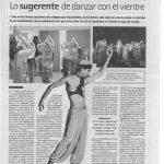 Lo sugerente de danzar con el vientre. 2007, Diario de Sevilla.