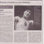 Poesía Oriental en Movimiento. 2007. Diario de Sevilla