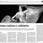 Ritmos exóticos y solidarios. 2008. Lugo. Diario El Progreso.