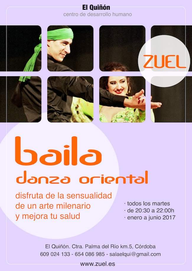 Cartel clases danza oriental en Córdoba