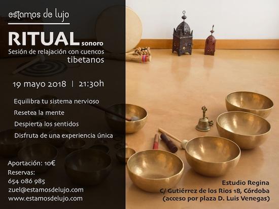 Ritual con cuencos tibetanos en Córdoba
